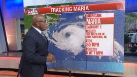 Hurricane Maria could impact East Coast of US