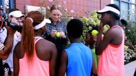 See Sheinelle Jones surprise 3 deserving teens at US Open Kids' Day