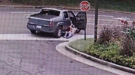 Watch: Victim of purse snatching won't let go, gets dragged by truck