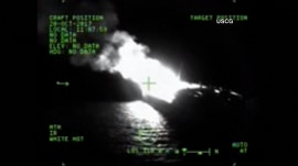 Crew member goes missing after an oil barge in Gulf of Mexico catches fire