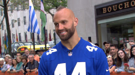 New York Giants' Mark Herzlich helps tackle cancer