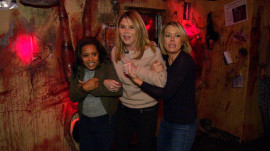 Jenna Bush Hager, Sheinelle Jones and Dylan Dreyer visit a haunted house