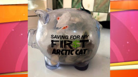 Little girl empties piggy bank to give friend milk money