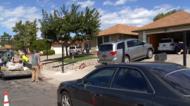 People are throwing pizzas on the roof of the 'Breaking Bad' house