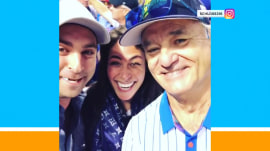 Bill Murray makes a couple's baby announcement at Chicago Cubs game
