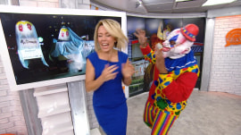 Watch Dylan Dreyer get freaked out by a clown in the Orange Room