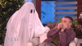 Sam Smith gets two ghoulish surprises on 'Ellen'
