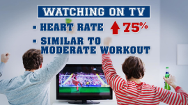 Watching sports may be as good as exercising, researchers say