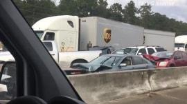 More than 30 injured in multi-car pileup in Texas