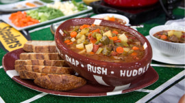 Make beef and vegetable stew, delicious dips for Thursday night football