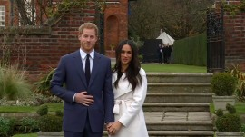 See Prince Harry and Meghan Markle make first live appearance as engaged couple