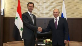 Vladimir Putin has surprise meeting with Syria's Assad