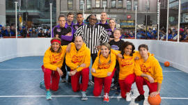 Watch Ben Stiller and the TODAY anchors play dodgeball for charity