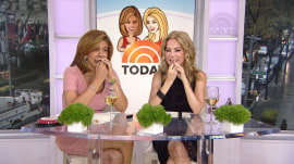 Kathie Lee and Hoda try the toothpick that looks like a lipstick