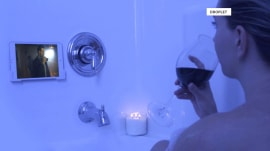 New device holds your phone or tablet in the bathtub