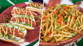 Make spicy hot dogs, smoky ribs and zesty fries for Sunday Night Football