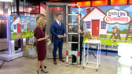 Quick curtain hangers, extending ladder: Lou Manfredini's life changers