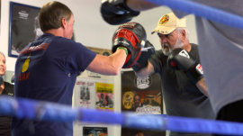 Parkinson's patients fighting debilitating disease with boxing