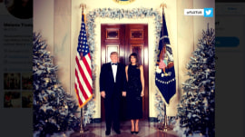 White House releases the first official Christmas portrait of Trump's presidency