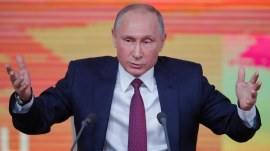 Vladimir Putin speaks out as he prepares to face female election challenger