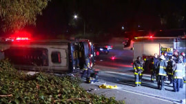 Charter bus overturns in San Francisco, injuring dozens