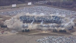 Pontiac Silverdome is FINALLY demolished on second try