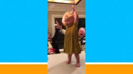 Watch this toddler's epic water bottle flip
