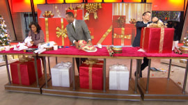 TODAY anchors face off in gift-wrapping competition