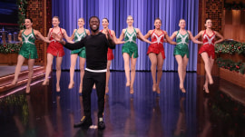 Kevin Hart dances with Radio City Rockettes on Jimmy Fallon
