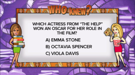 Who Knew? about books into films: Which 'The Help' star won an Oscar?
