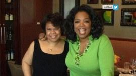 Oprah Winfrey attends her sister's graduation