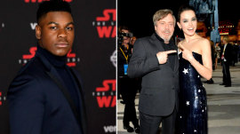 'Star Wars' stars turn out in Force for 'Last Jedi' premiere