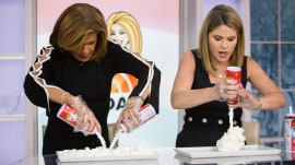 Whip it! See Hoda and Jenna try to set a whipped cream Guinness record