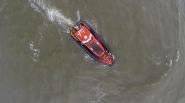See how drones may be used for search and rescue at sea