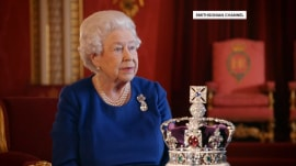 Queen Elizabeth takes a rare public look back at her 1953 coronation