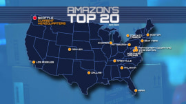 Amazon narrows second headquarters possibilities to 20 cities