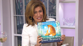 Watch 'excited' Hoda Kotb open the first copy of her new children's book