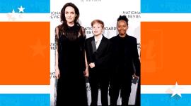 Angelina Jolie brings children Shiloh and Zahara to gala