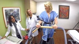 Megyn Kelly takes a stress test to measure her heart health