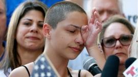 Florida high school students push for stronger gun control following shooting