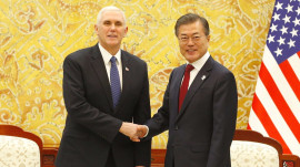 Vice President Pence arrives in South Korea as Winter Olympics begin