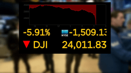 Dow plunges 1,175 points, international markets recoil