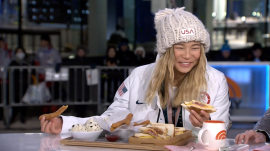 Watch Chloe Kim eat churros made especially for her on TODAY