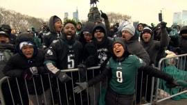 At Super Bowl parade, Sheinelle Jones joins huge flock of Eagles fans