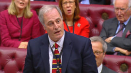 British lord resigns from Parliament for being 1 minute late