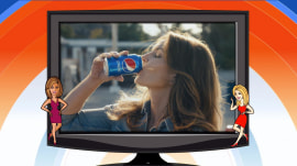 Cindy Crawford and her son appear in Pepsi's new Super Bowl ad