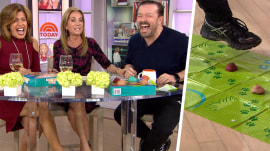 Watch Kathie Lee, Hoda and Ricky Gervais play 'Don't Step In It'