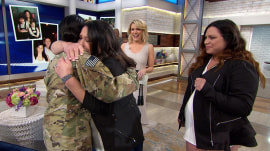 Watch an Air Force captain reunite with her family on Megyn Kelly TODAY