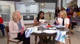 Megyn Kelly and an audience member test their knowledge of keeping germs at bay