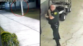 Stoneman Douglas surveillance video shows deputy standing outside